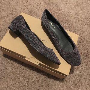 Zara Shiny Ballerinas Flats